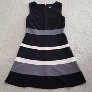 Tommy Hilfiger Navy Colorblock Stripe Dress